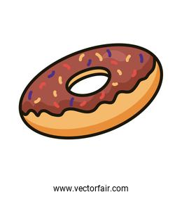 sweet donut pastry line and fill style icon