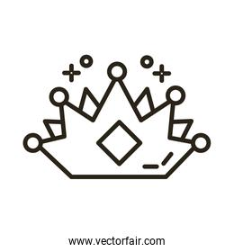 queen crown line style icon