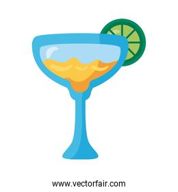 fresh tropical tequila cocktail with lemon detaild style icon