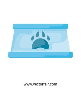 bowl for dog food on white background