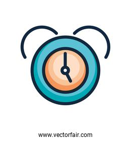 user interface concept, clock icon, line color style