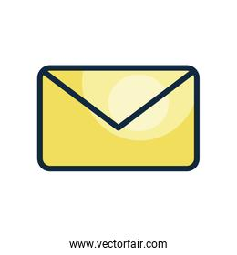 user interface concept, mail symbol, envelope icon, line color style