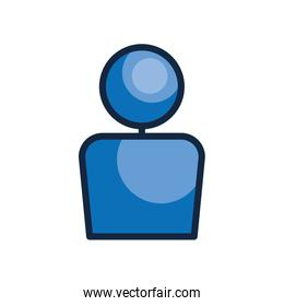 user interface concept, user symbol, avatar icon, line color style
