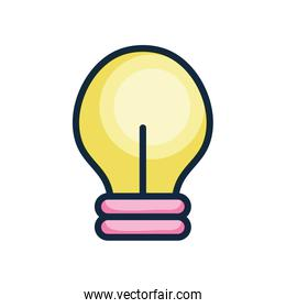 user interface concept, light bulb icon, line color style