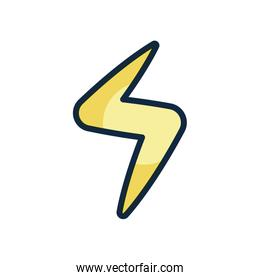 user interface concept, thunder icon, line color style