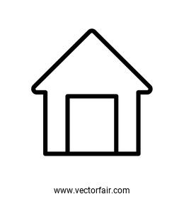 user interface concept, home symbol, house icon, line style