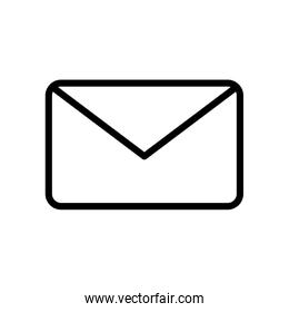user interface concept, mail symbol, envelope icon, line style