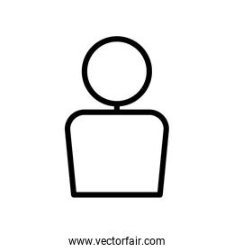 user interface concept, user symbol, avatar icon, line style