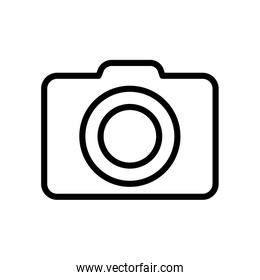 user interface concept, camera icon, line style