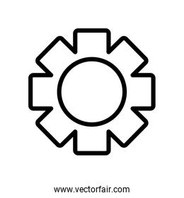 user interface concept, setting symbol, gear wheel icon, line style
