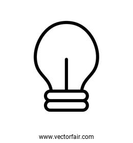 user interface concept, light bulb icon, line style