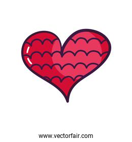 heart with cloudy line icon, line color style