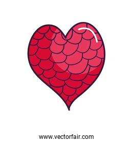 heart full of circles icon line color style