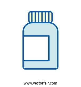 Medicine jar line and fill style icon vector design
