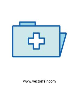File with cross line and fill style icon vector design