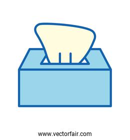 Tissues box line and fill style icon vector design