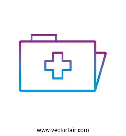 File with cross gradient line style icon vector design