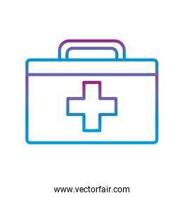 Kit with cross gradient line style icon vector design