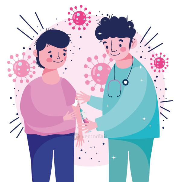 nurse professional giving patient vaccine medical health care vaccination