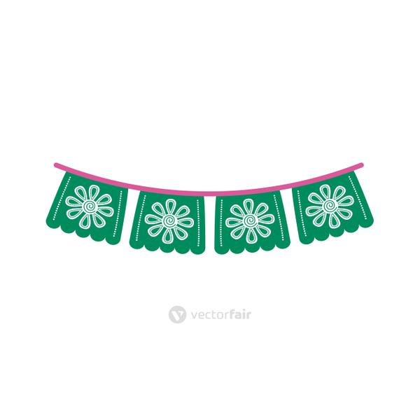garlands party decoration line style icon