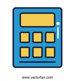 calculator math device line and fill style