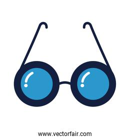 isolated eyeglasses optical accessory line and fill style