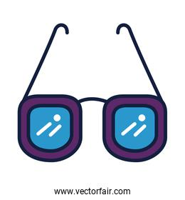 eyeglasses optical accessory line and fill style