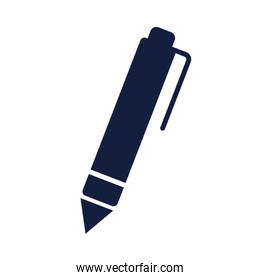 isolated pen school supply silhouette style