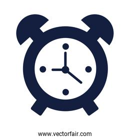 alarm clock time silhouette style