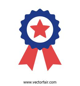 medal with star silhouette style