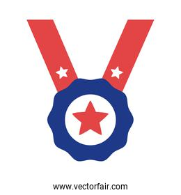 medal with star silhouette style icon