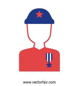 military soldier silhouette style icon