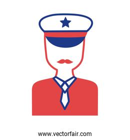 military officer silhouette style icon