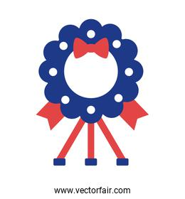 wreath crown with bow silhouette style icon