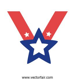 star medal silhouette style icon
