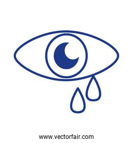 eye human with tears line style icon