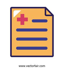 medical order line and fill style icon