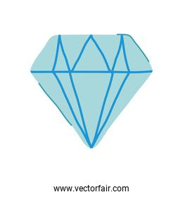 diamond jewelry icon, flat style