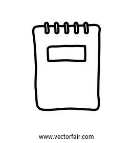 notebook paper icon, line style