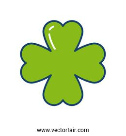 clover icon, line and fill style