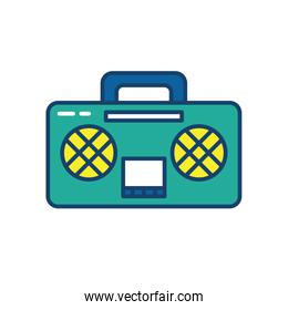 boombox icon, line and fill style