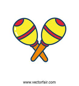 maracas icon, line and fill style
