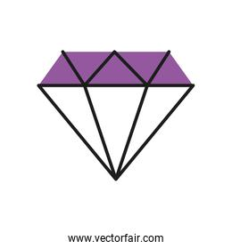 diamond icon, line and fill style