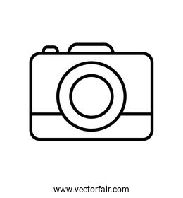 camera device icon, line style