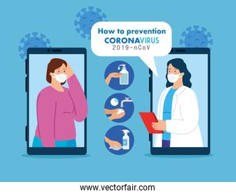 telemedicine technology with smartphones and women