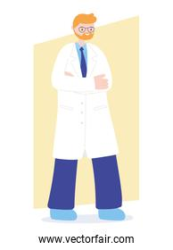 doctors and nurses, senior physician professional staff character