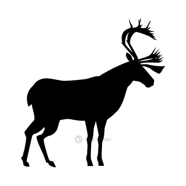 reindeer animal silhouette isolated icon