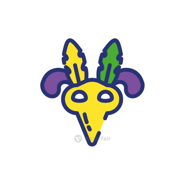 Isolated mardi gras mask with feathers vector design