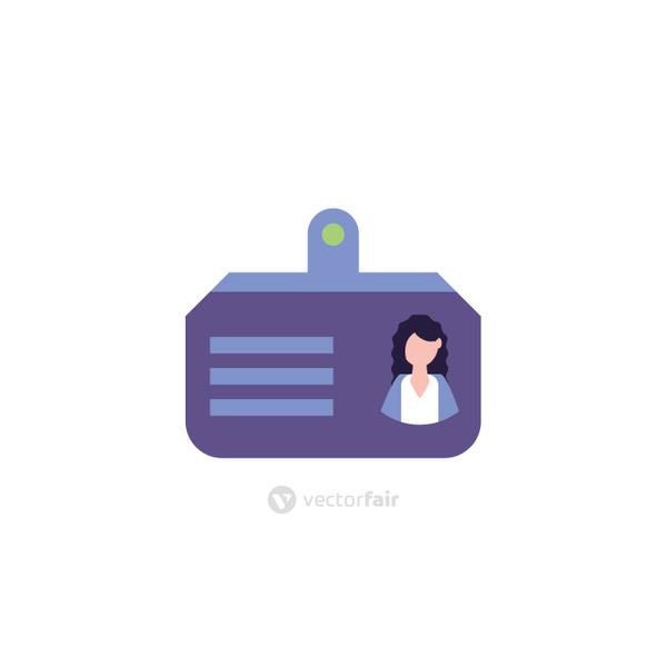 Isolated id card icon vector design