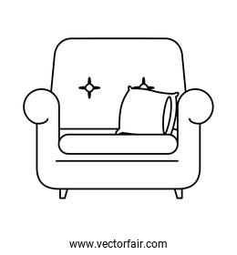 sofa livingroom forniture isolated icon